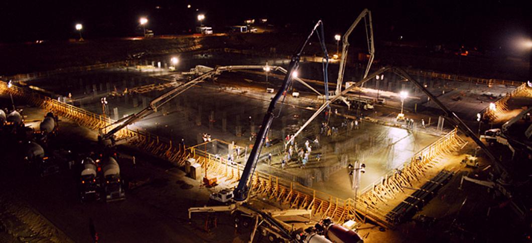 WaferTech 16K cu. yd. continuous concrete pour, Camas, WA